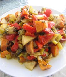 תבשיל ירקות בניחוח אורגנו