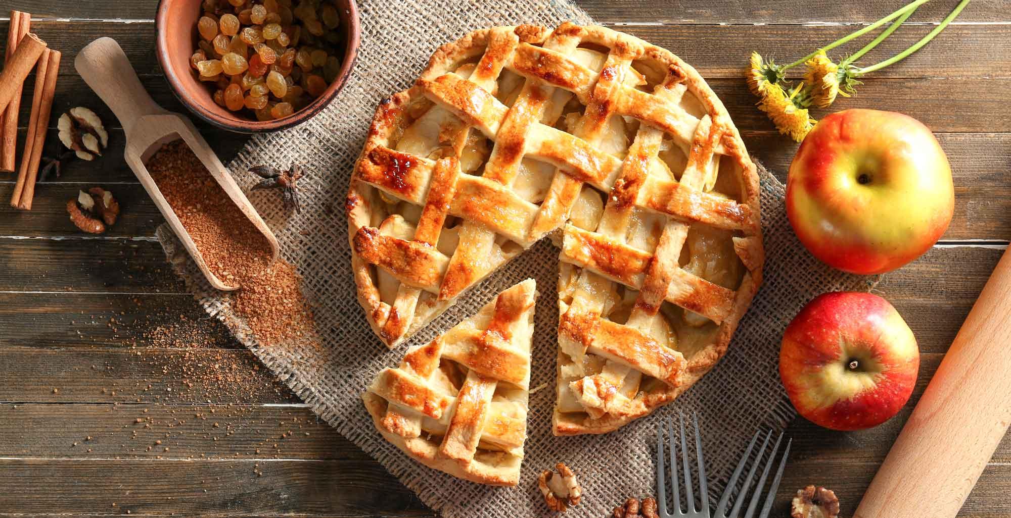 פאי תפוחים עם צימוקים