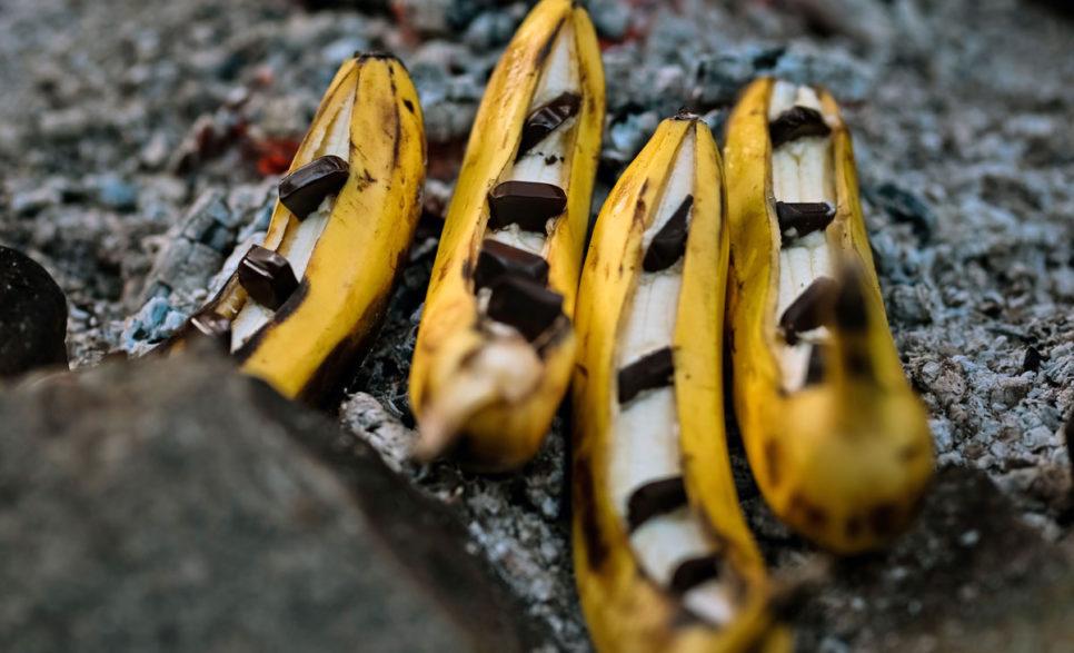 """בננות עם שוקולד למדורת ל""""ג בעומר"""
