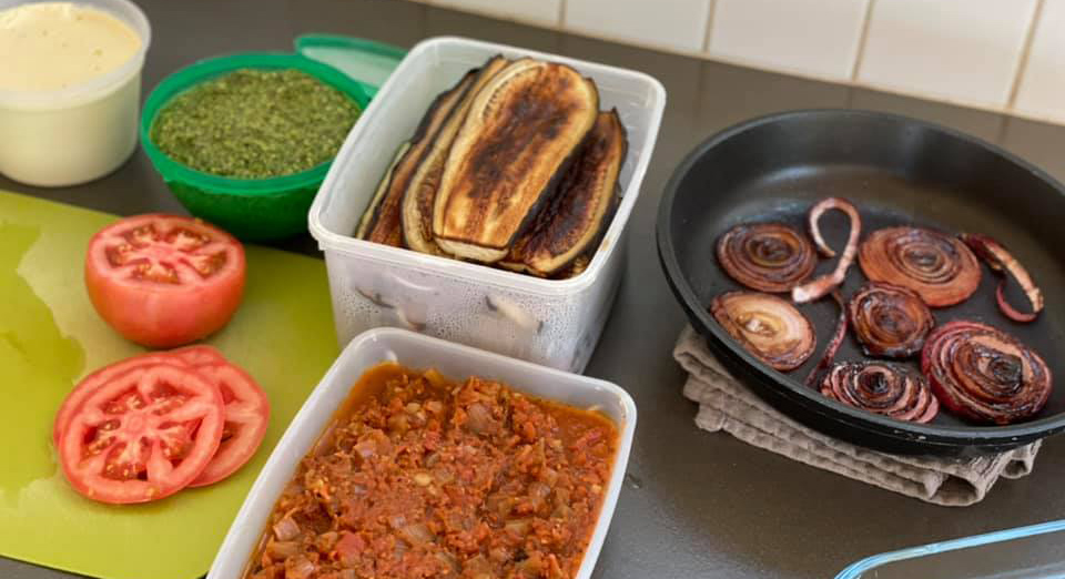 לזניה ירקות קלויים