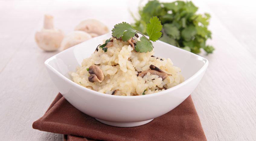 אורז בחלב קוקוס, פטריות ואגוזים