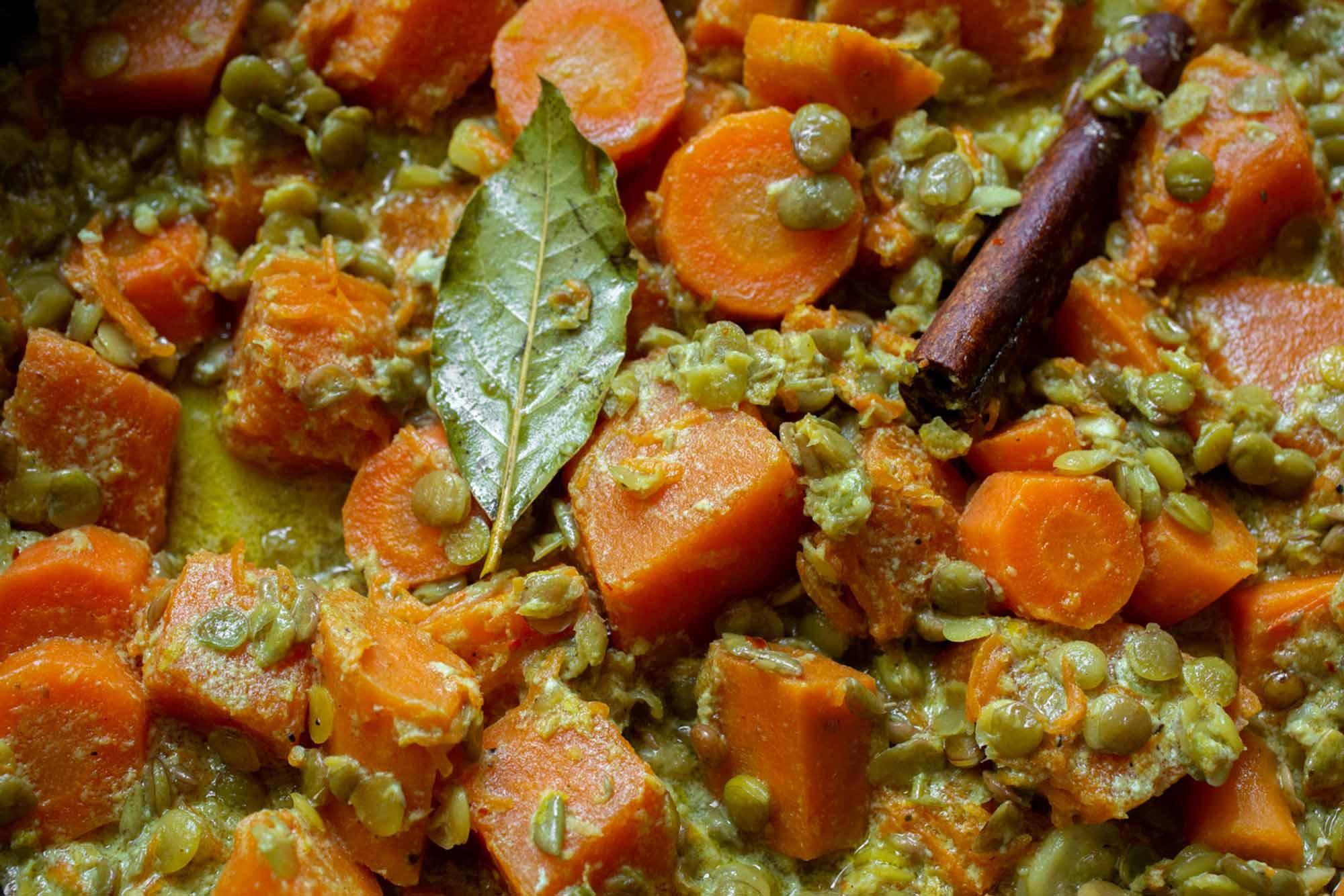 ירקות בחלב קוקוס