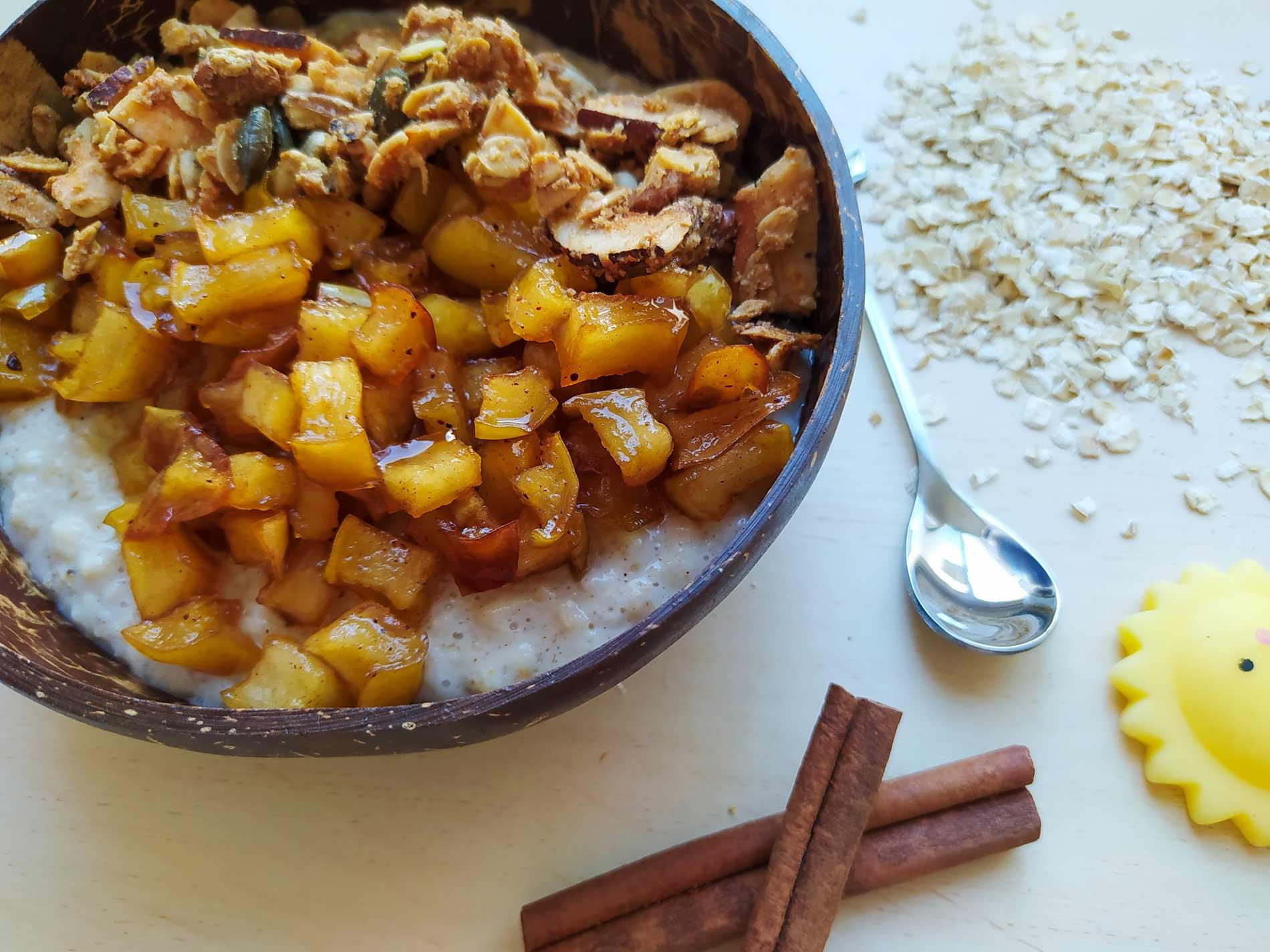 דייסת קוואקר בטעם פאי תפוחים